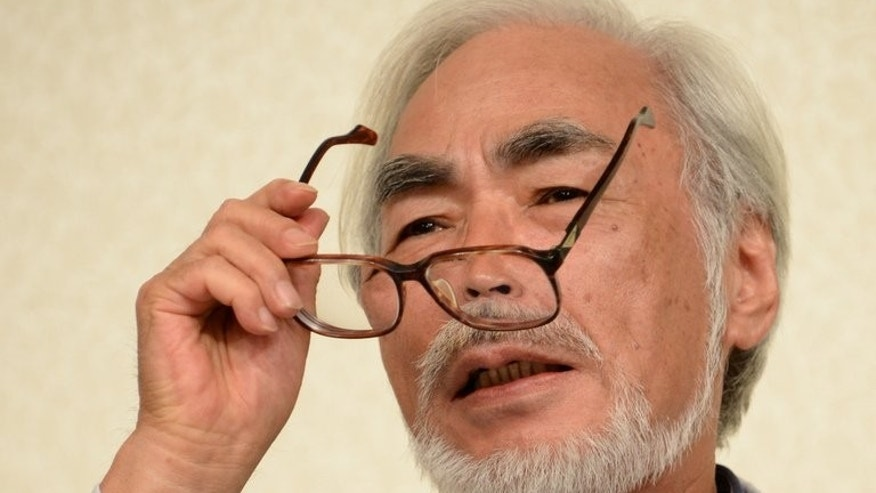 "Oscar-winning Japanese animator Hayao Miyazaki answers a question during a press conference in Tokyo on September 6, 2013. Miyazaki impressed with ""The Wind Rises"" one of the favourites to win Venice's Golden Lion prize"