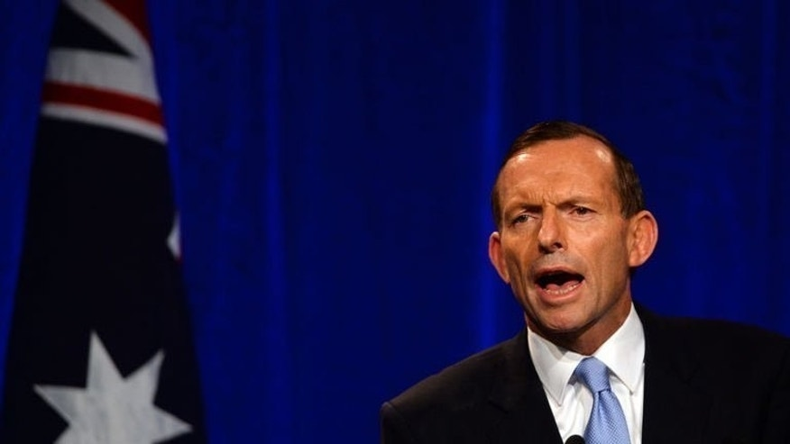 Australian prime minister-elect Tony Abbott delivers his address in Sydney, on September 7, 2013. Australian politics looks set for a period dominated by domestic concerns as Abbott seeks to move on from a vitriolic campaign with a focus on local issues, analysts say.
