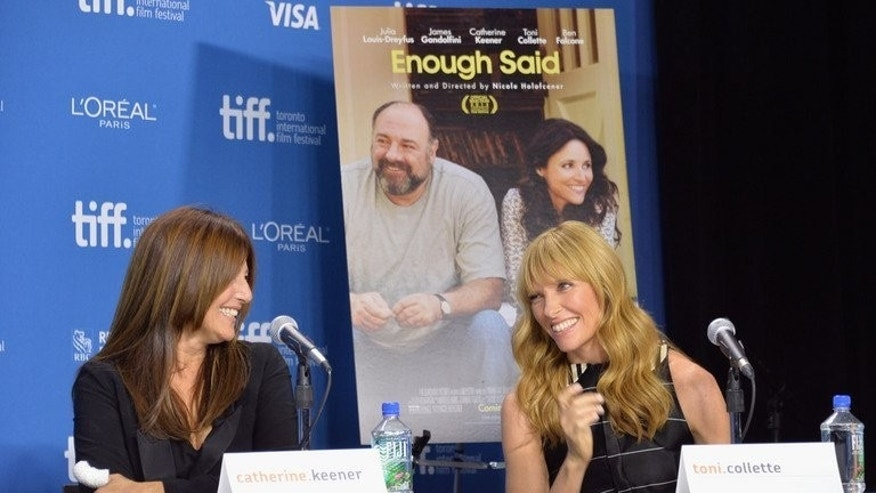 "Catherine Keener and Toni Collette of ""Enough Said"" during the 2013 Toronto International Film Festival on September 8, 2013."