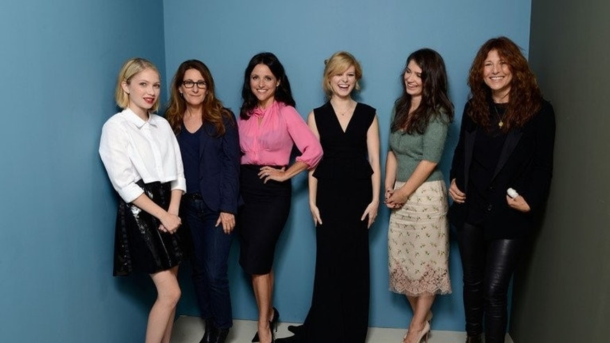 Actress Tavi Gevinson, director Nicole Holofcener, actress Julia Louis-Dreyfus, actress Tracey Fairway, actress Eve Hewson and actress Catherine Keener of 'Enough Said' at the 2013 Toronto International Film Festival on September 7, 2013.