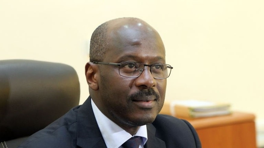 Mali's first post-war prime minister Oumar Tatam Ly on September 6, 2013 in his office in Bamako.