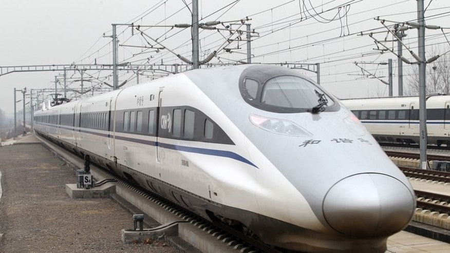 The high speed train that runs on the 2,298km line between Beijing and Guangzhou, on December 26, 2012. A businesswoman linked to China's disraced railways minister is facing charges of illegal business activities.