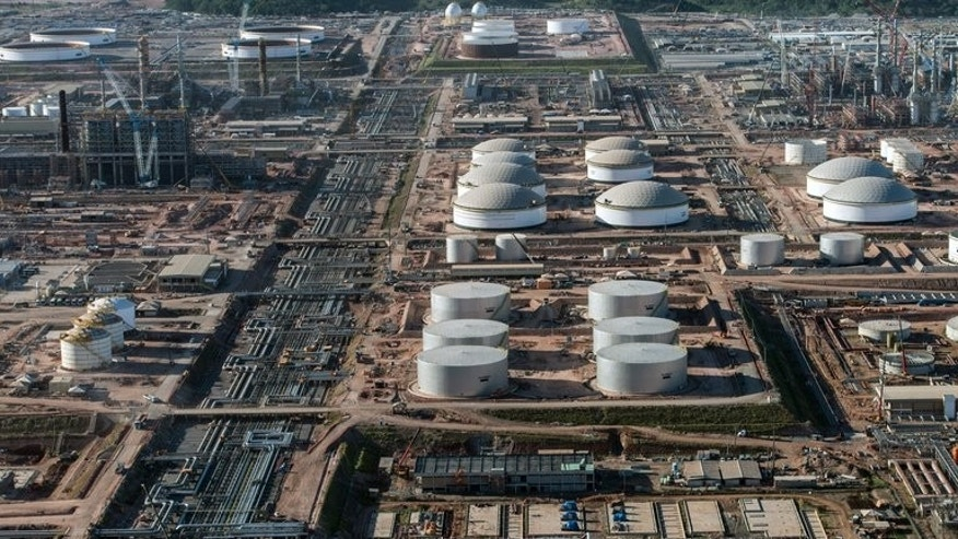 Petrobras' oil refinery, Abreu e Lima, in Recife, Brazil on April 15, 2013. The US government spied on Brazilian state-run oil giant Petrobras, according to intelligence documents released by Globo television.