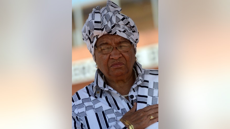 Liberian President Ellen Johnson Sirleaf, seen at Conakry airport on March 10, 2013. The Truth and Reconciliation Commission was set up by Sirleaf to probe war crimes and rights abuses between 1979 and 2003.