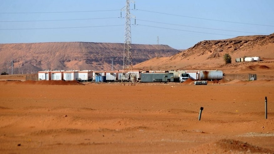An accommodation compound belonging to Sonatrach oil company in the desert in Algeria's deep south on January 19, 2013.