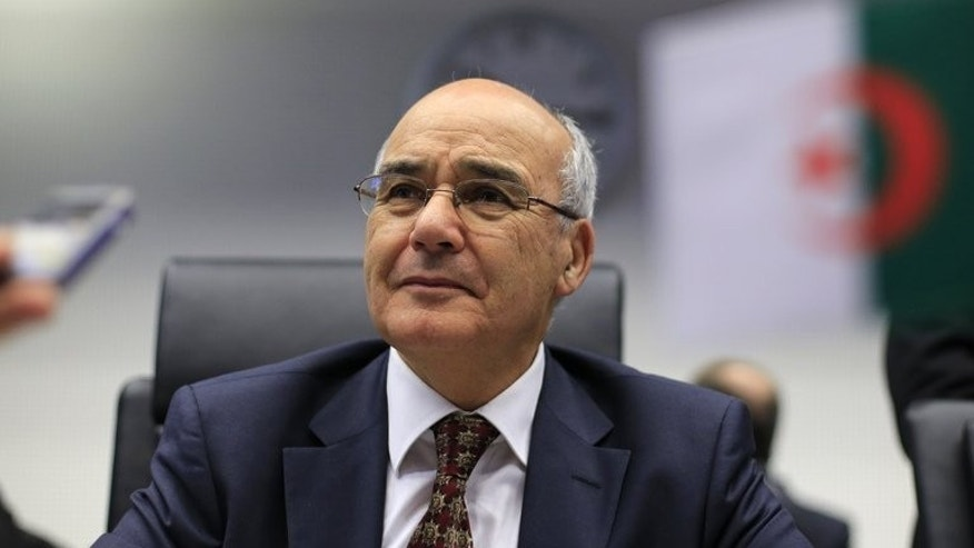 Algeria's energy minister Youcef Yousfi at the OPEC conference in Vienna, on May 31, 2013.