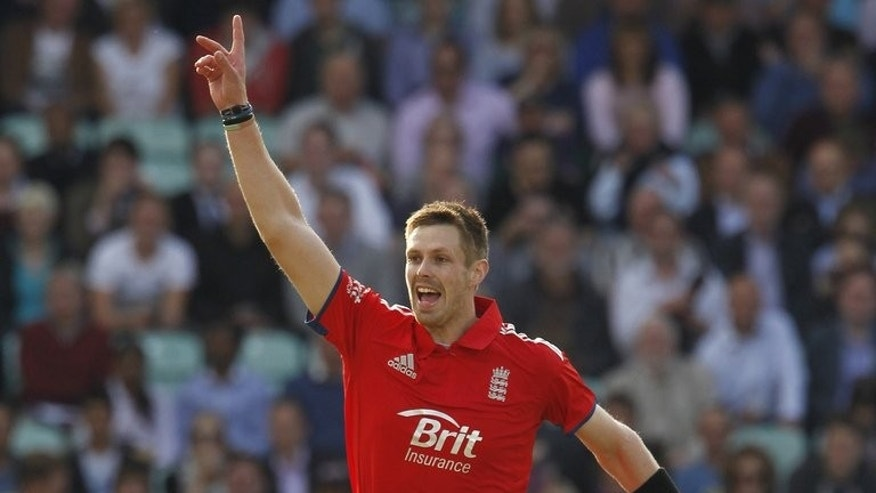 England's Boyd Rankin celebrates during a match between England and New Zealand on June 25, 2013. He will be looking to strengthen his case for an Ashes call-up when the third one-day international takes place at Edgebaston on Werdnesday.