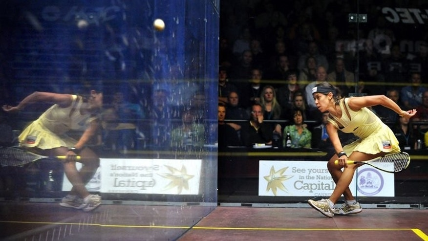 Nicol David competes at the Australian Open squash tournament in Canberra in August 19 2012. David said she was disappointed squash had failed to make it into the 2020 Olympics but said the sport's bid for inclusion in the Games had raised its profile.