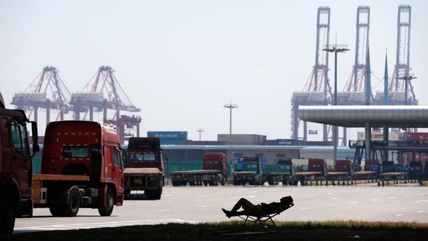 Yangshan port in Shanghai, pictured July 30, 2013. China's industrial production rose 10.4 percent in August year-on-year.