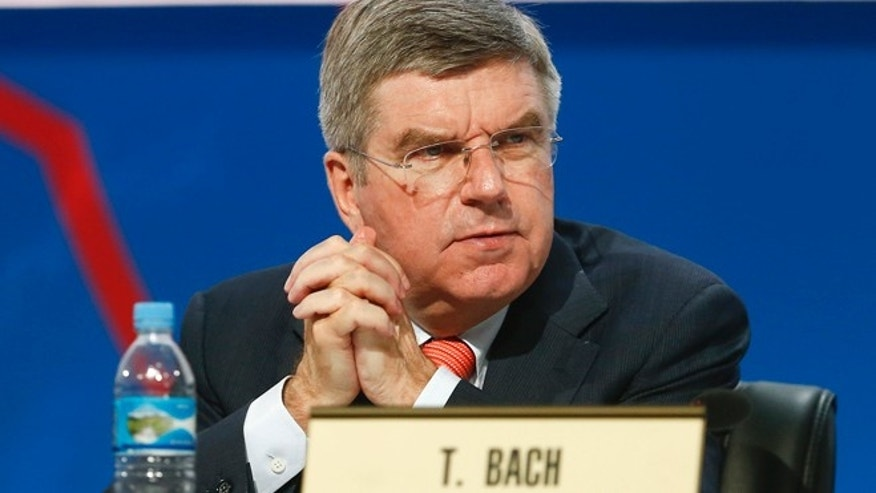 Sept. 9, 2013: Thomas Bach, vice president of the International Olympic Committee (IOC), attends a report session during the 125th IOC session in Buenos Aires, Argentina.