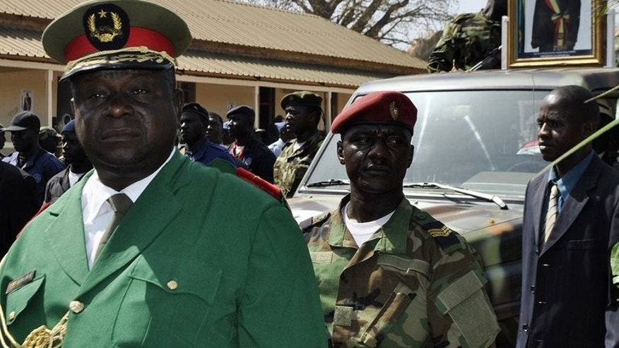 Guinea Bissau's former army chief General Antonio Indjai in Bissau on January 15, 2012.