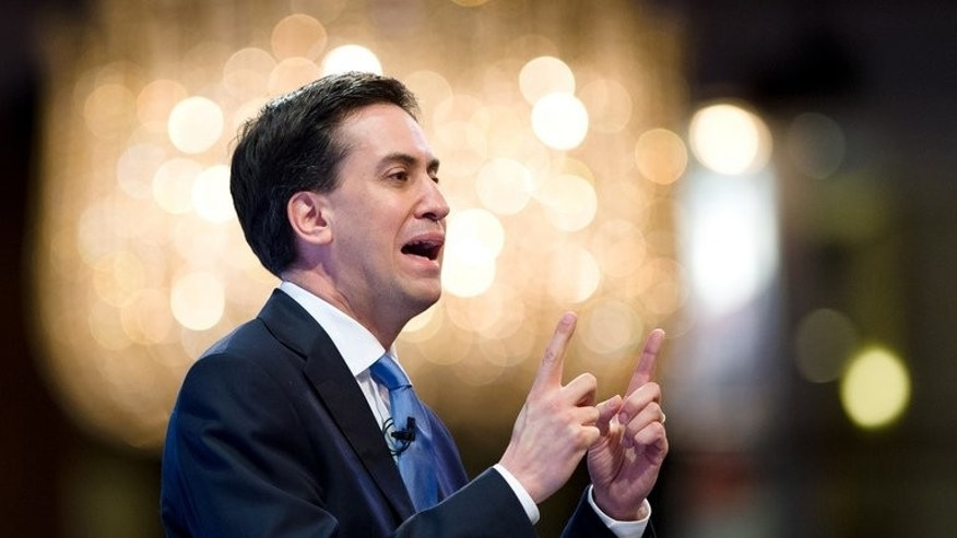 "Leader of the opposition Labour Party Ed Miliband, pictured in central London, on November 19, 2012, said Tuesday he was ""absolutely determined"" to reform the Labour party's historic financial links with trade unions, as he addressed delegates in a key speech."