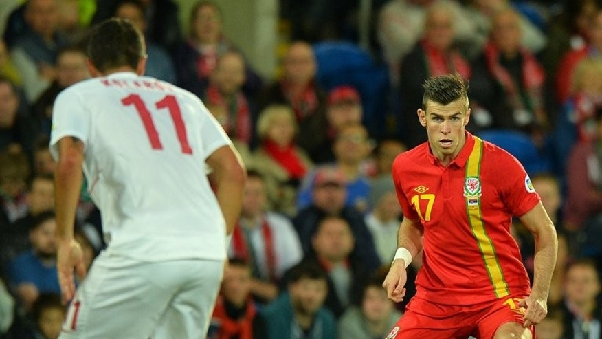 Gareth Bale on the ball for Wales in the World Cup qualifier against Serbia in Cardiff on Tuesday. Bale was on the field for the final 32 minutes of Wales' 3-0 defeat by Serbia in Cardiff on Tuesday, a result that dropped Chris Coleman's men to the bottom of the European zone qualifying Group A table.