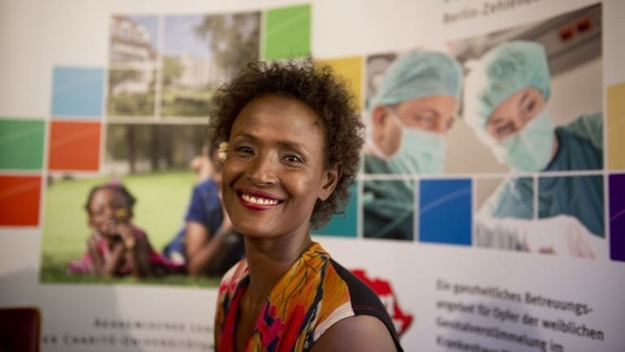 Waris Dirie, model, author, actress and human rights activist of Somali origin attends the opening of a hospital ward in Berlin on September 11, 2013.