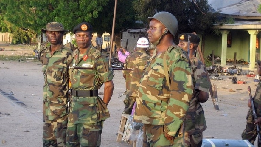 Nigerian army troops on July 30, 2009 in the northeastern city of Maiduguri.