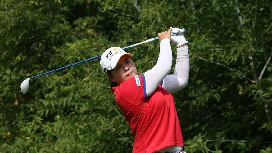 "Park In-Bee during the third round of the CN Canadian Women's Open in Edmonton, Alberta on August 24, 2013. She says that pressure has become ""a friend"" since she won the Evian Masters in France."