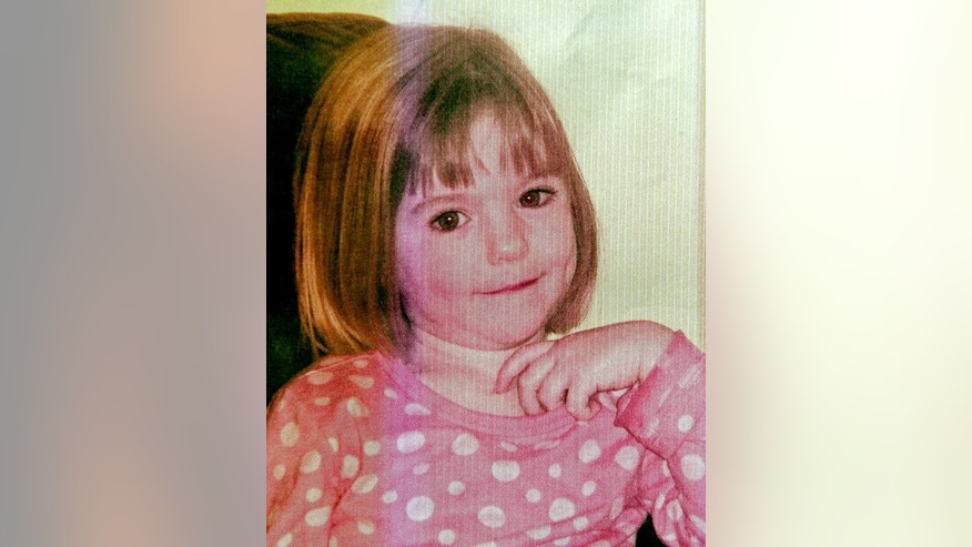 An undated handout picture shows three-year old British girl Madeleine McCann, who went missing in Portugal in 2007. The mother of missing British girl Madeleine McCann was back in Portugal on Thursday for the start of libel proceedings against a detective who has written a book about the case.