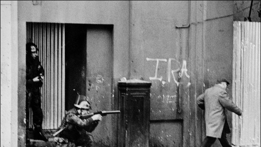 British army soldiers patrol in 1971 in the Bogside quarter of the city of Derry. Amnesty says too many questions remain about the murders and attacks committed during the so-called Troubles in the 1970s, 1980s and 1990s, in which more than 3,000 people died.