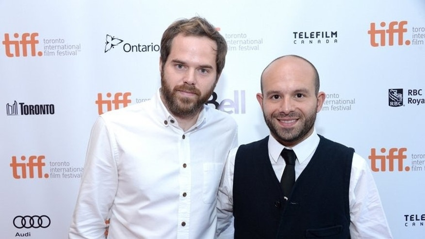 "Director Sean Durkin (L) and actor Anatol Yusef arrive at the ""Southcliffe"" Premiere during the 2013 Toronto International Film Festival at Isabel Bader Theatre on September 6, 2013 in Toronto, Canada."