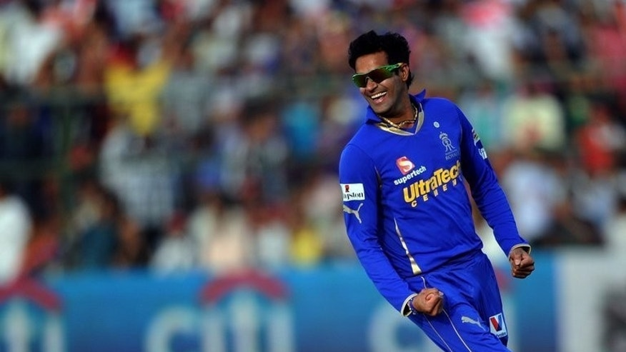 Indian cricketer Ajit Chandila pictured during an IPL Twenty20 match in Jaipur on May 13, 2012. Chandila and three other players have been found guilty of spot-fixing during the Indian Premier League, a report said Friday.