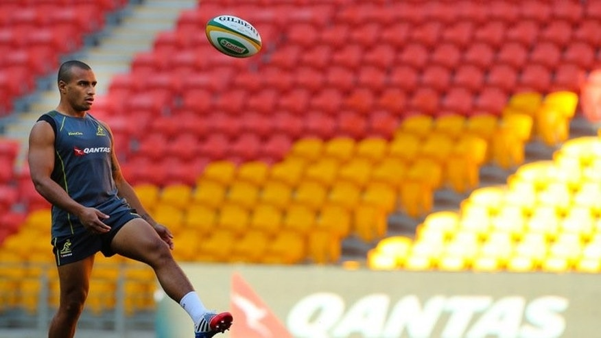 Australia's Will Genia during the team's final training session at Suncorp Stadium in Brisbane on September 6, 2013.