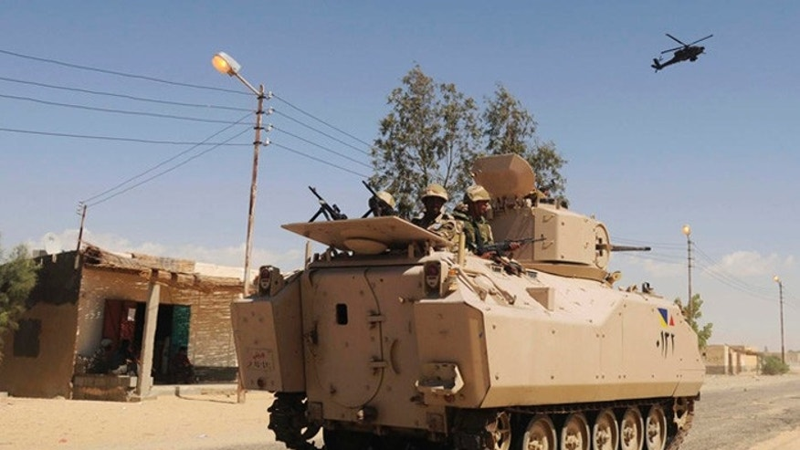 "More than 20,000 Egyptians soldiers are pouring into the lawless Sinai Peninsula to ""cleanse"" the vast region of militant jihadists. (AP Photo, File)"