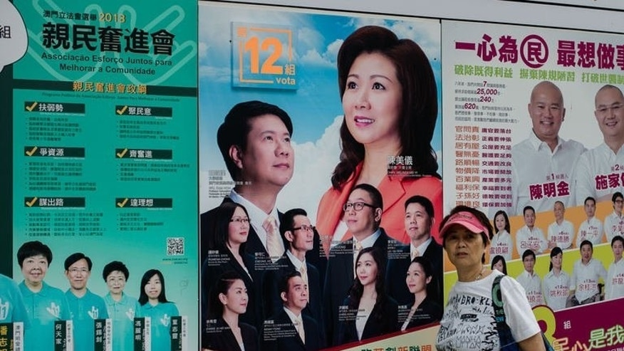 Thousands in the Chinese gambling enclave of Macau voted on September 15, 2013 for the city's forth legislative election since its handover from Portugal in 1999.