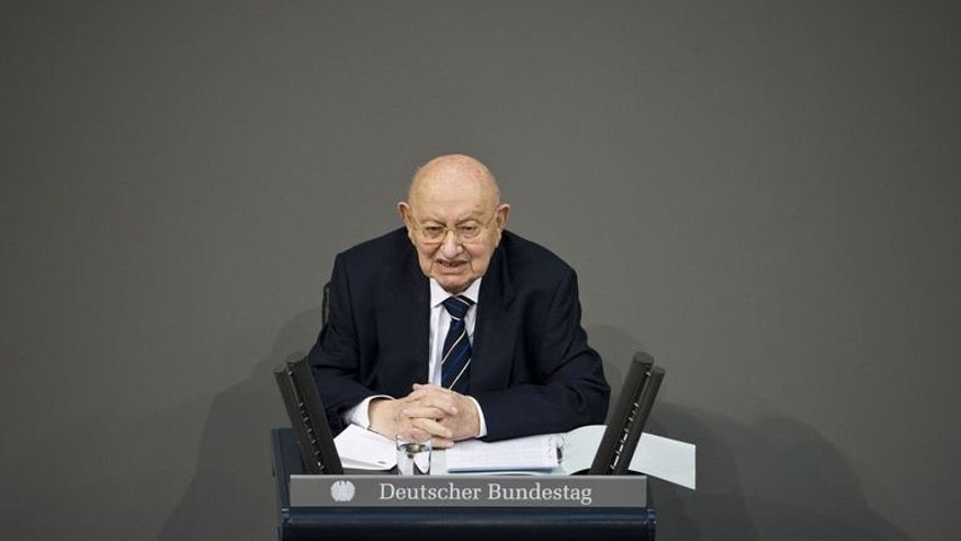 Marcel Reich-Ranicki, Germany's leading literary critic and Holocaust survivor, pictured on January 27, 2013, has died aged 93, the Frankfurter Allgemeine Zeitung newspaper, of which he was book editor for many years, said on Wednesday.
