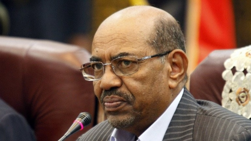 Sudan's President Omar al-Bashir on September 3, 2013 in Khartoum.
