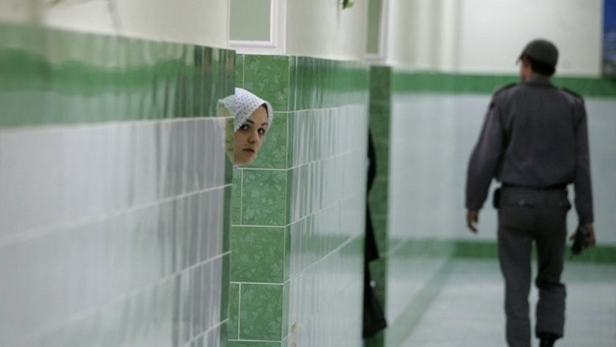 An Iranian inmate in the female section of the infamous Evin jail, north of Tehran, on June 13, 2006.