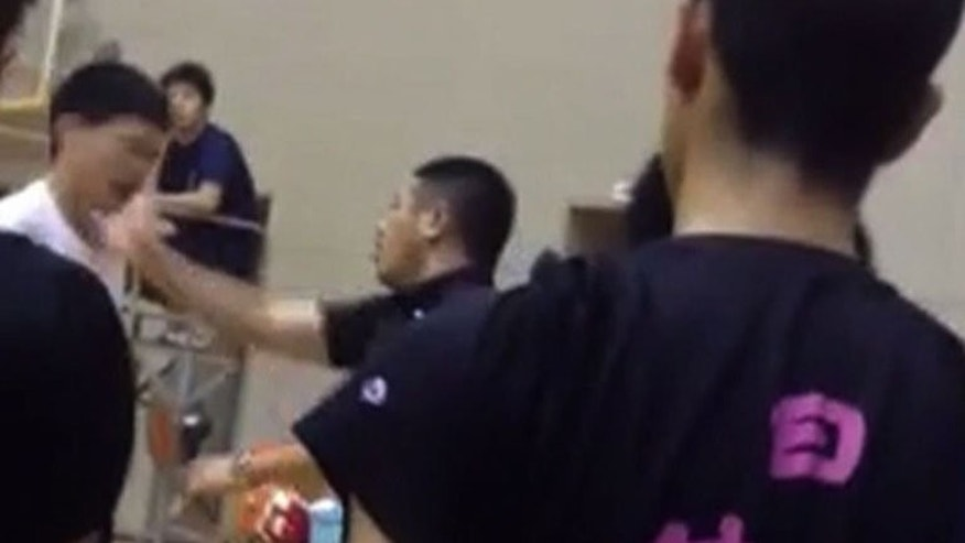 A video has emerged showing a volleyball coach repeatedly slapping a schoolboy -- just days after Tokyo was awarded the 2020 Olympics -- in the latest example of brutality to tarnish Japanese sport.