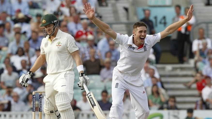 Chris Woakes appeals for the wicket of Shane Watson (left) at The Oval in London on August 21. England and Australia will be granted additional reviews during the forthcoming Ashes series as part of a change to the controversial Decision Review System, the International Cricket Council said Wednesday.