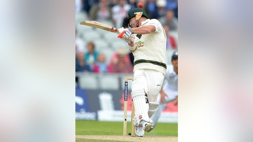 "David Warner plays a shot against England at Old Trafford on August 4. At a meeting of the ICC's chief executives' committee at the global governing body's Dubai headquarters, officials agreed the number of decision reviews will be ""topped-up"" to two after 80 overs of a Test innings."