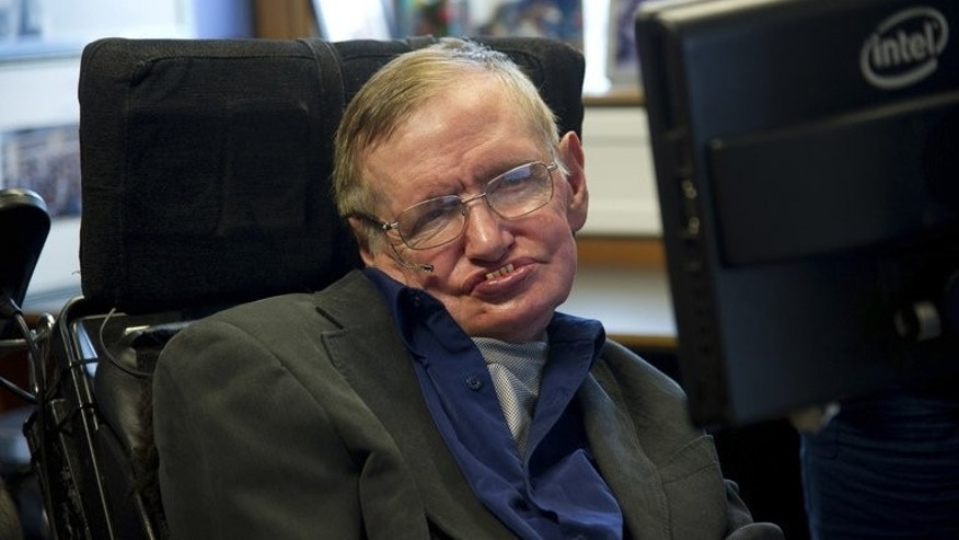 Physicist Stephen Hawking sits at his desk in the Applied Mathematics Department of Cambridge University on August 30, 2012. Hawking, the theoretical physicist who suffers from motor neurone disease, has publicly backed the notion of assisted suicide for people with terminal illnesses.