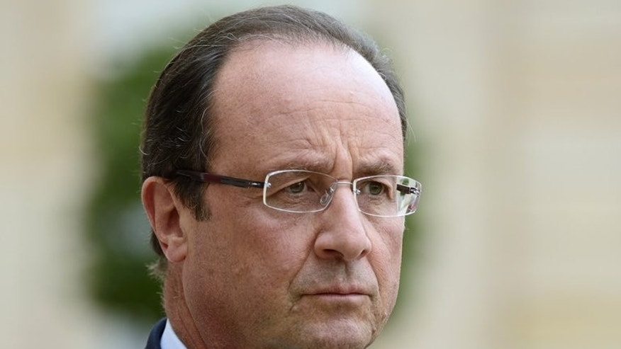 French President Francois Hollande at the Elysee palace in Paris on September 12, 2013.