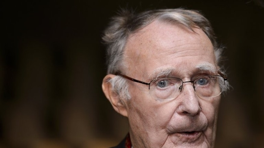 Ikea founder Ingvar Kamprad attends an event in Lausanne on December 3, 2012. Kamprad was forced to hand over billions of dollars to his sons following a bitter family feud, according to a new book on the global furniture giant.
