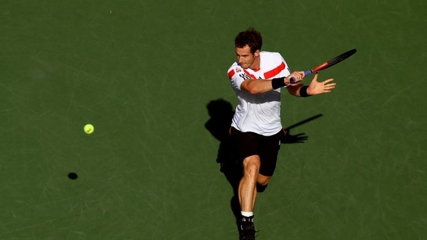 Andy Murray in action at the 2013 US Open on September 5, 2013 in New York.