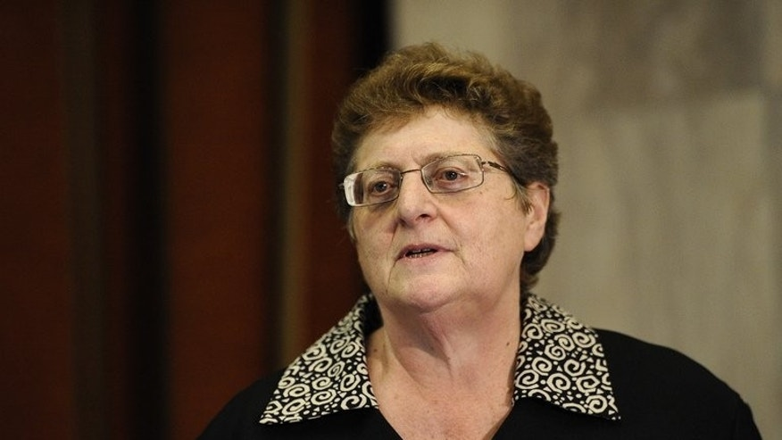 Governor of the South African Reserve Bank Gill Marcus delivers a speech in Pretoria on February 11, 2012. South Africa's Reserve Bank kept interest rates on hold at 5.0 percent as expected, deciding against a rate cut that would stoke inflation fueled by the weak rand.