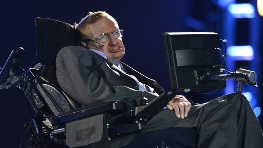 Stephen Hawking appears during the opening ceremony of the London 2012 Paralympic Games on August 29, 2012. The cosmologist has told the extraordinary tale of how he overcame severe disability to become the most famous living scientist in a new documentary film premiered in Britain.