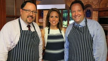 Bob and Peter Unanue, CEO and Executive Vice President of Goya Foods, pictured with Fox News Channel Correspondent Alicia Acuña.