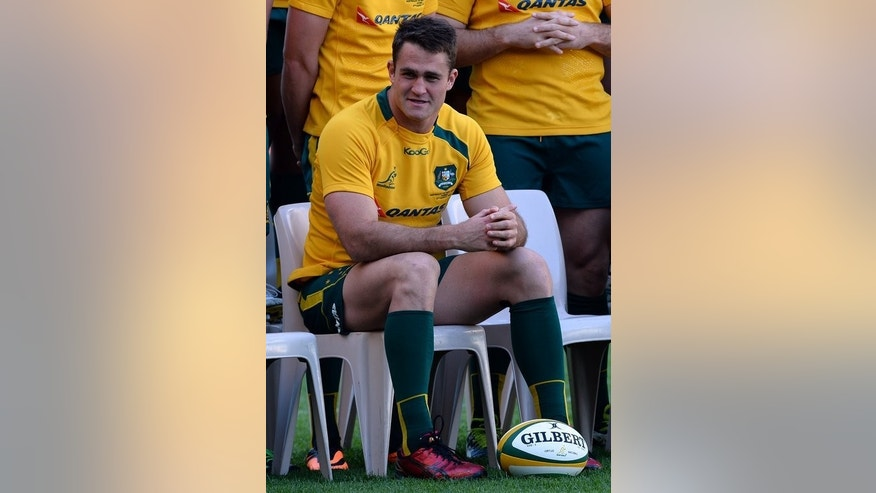 Australian Wallabies captain James Horwill waits for a photograph prior to a captain's run in Sydney on August 16, 2013.