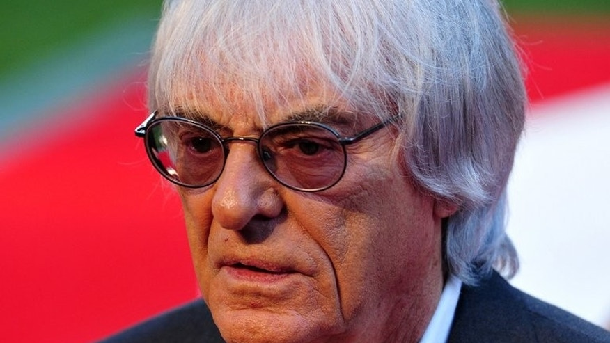 Formula 1 chief executive Bernie Ecclestone pictured in central London on September 2, 2013.