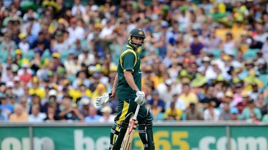 Australia's David Hussey is pictured on January 20, 2013. Nottinghamshire beat Glamorgan by 87 runs to win the English county 40-over final at Lord's on Saturday.
