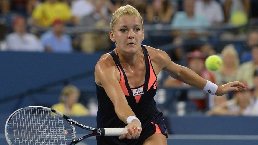 Polish Agnieszka Radwanska plays a point against Russia's Ekaterina Makarova during the 2013 US Open, September 1. Radwanska will face Anastasia Pavlyuchenkova in Sunday's final of the Korea Open after the Russian squeezed past Francesca Schiavone in a thriller.