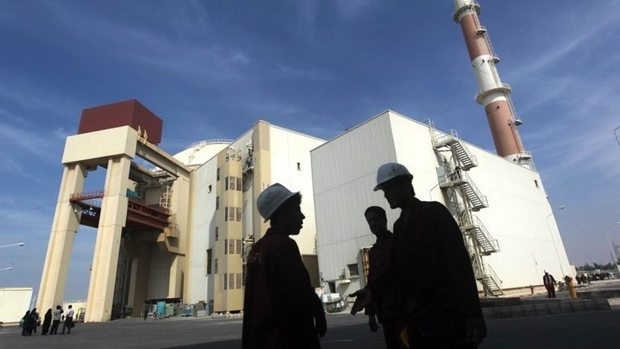 The reactor building at the Russian-built Bushehr nuclear plant, pictured October 26, 2013.