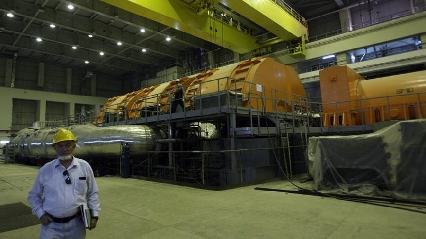 A Russian technician inside the Bushehr nuclear power plant in southern Iran, on October 26, 2010.