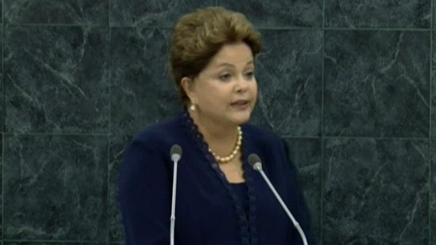 Sept. 24, 2013: Brazil's President, Dilma Rousseff, addresses the U.N. General Assembly in New York, N.Y.