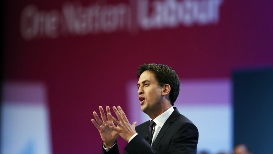 Britain's opposition Labour Party leader Ed Miliband speaks in Brighton, southern England, on September 24, 2013.