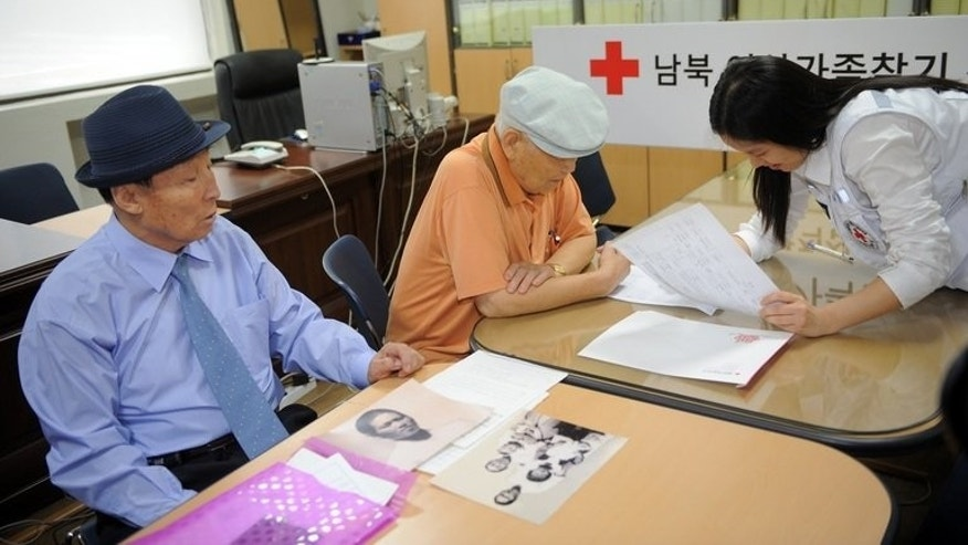 South Korean's who left behind relatives in North Korea apply for a family reunion in Seoul on September 13, 2010.