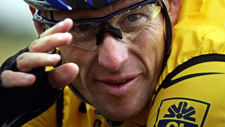 Lance Armstrong at the Tour de France cycling race on July 8, 2004.